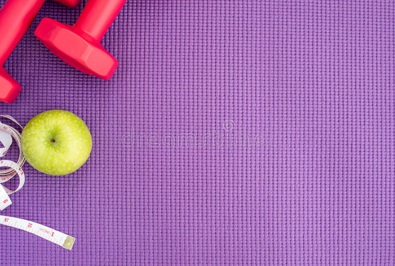 Healthy lifestyle concept with copy space royalty free stock photography