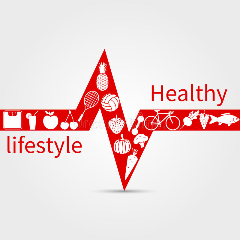 Healthy lifestyle concept. Vector illustration stock illustration