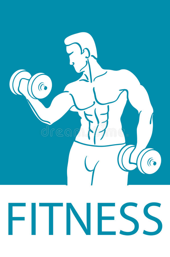 Healthy lifestyle design. Fitness couple and fitness club concept with strength health and beauty symbols flat vector illustration vector illustration