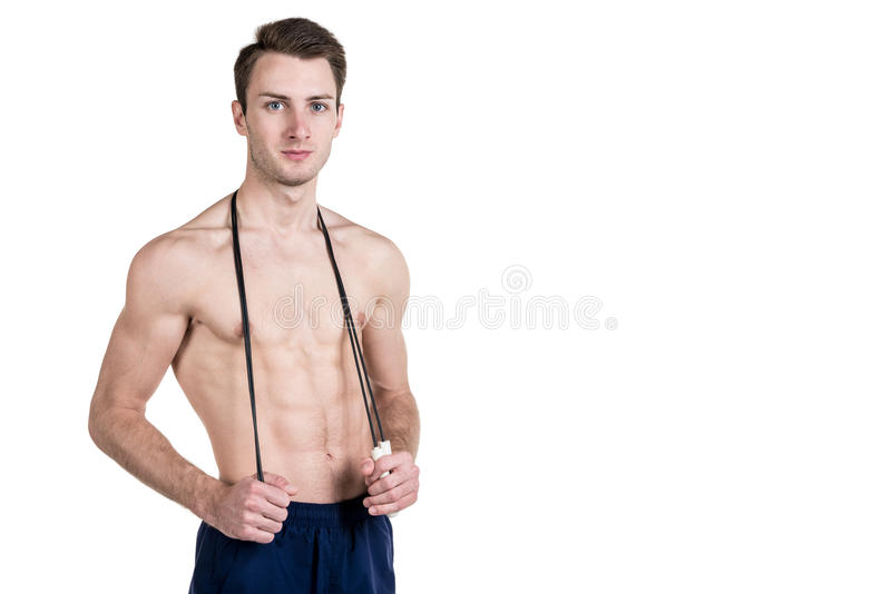 Young Fitness Woman With Jump Rope Isolated Stock Photo -4973