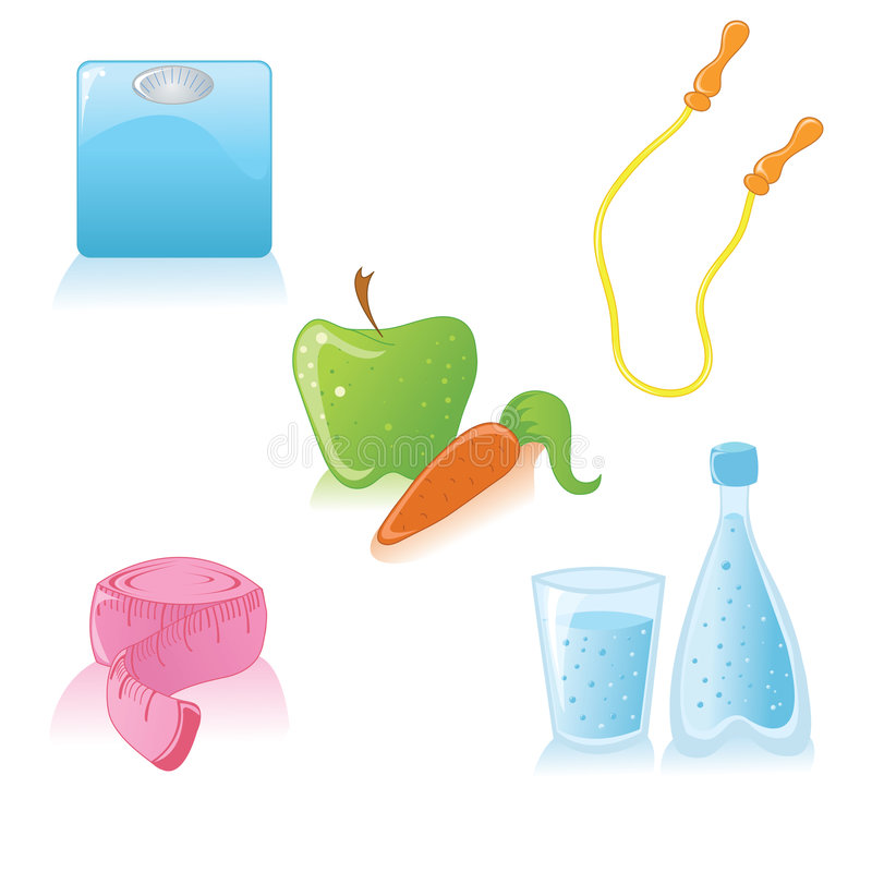 Download Healthy Lifestyle Icons Stock Photography - Image: 8596682