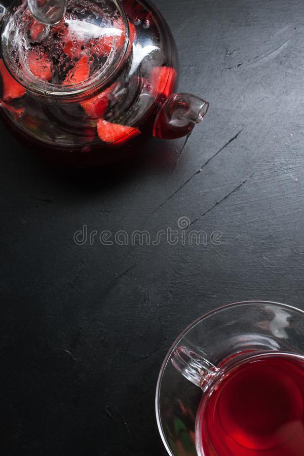 Healthy lifestyle natural fruit tea concept royalty free stock images