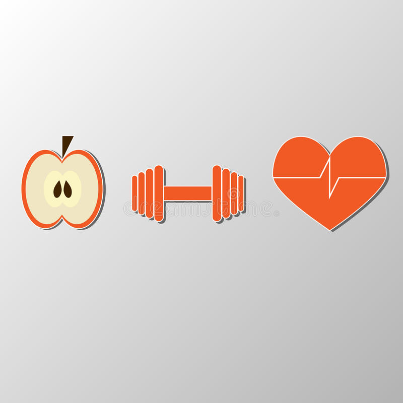 A healthy lifestyle stock illustration