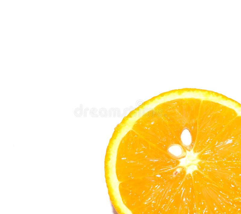 Healthy lifestyle. Photo of an orange on a white background. Tropics, citrus fruit, vitamins. stock image