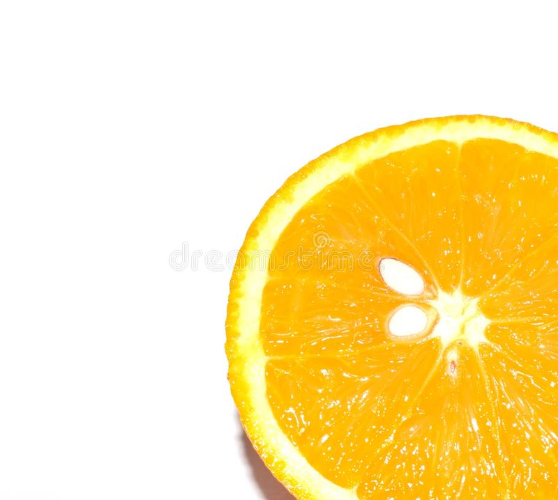 Healthy lifestyle. Photo of an orange on a white background. Tropics, citrus fruit, vitamins. royalty free stock images