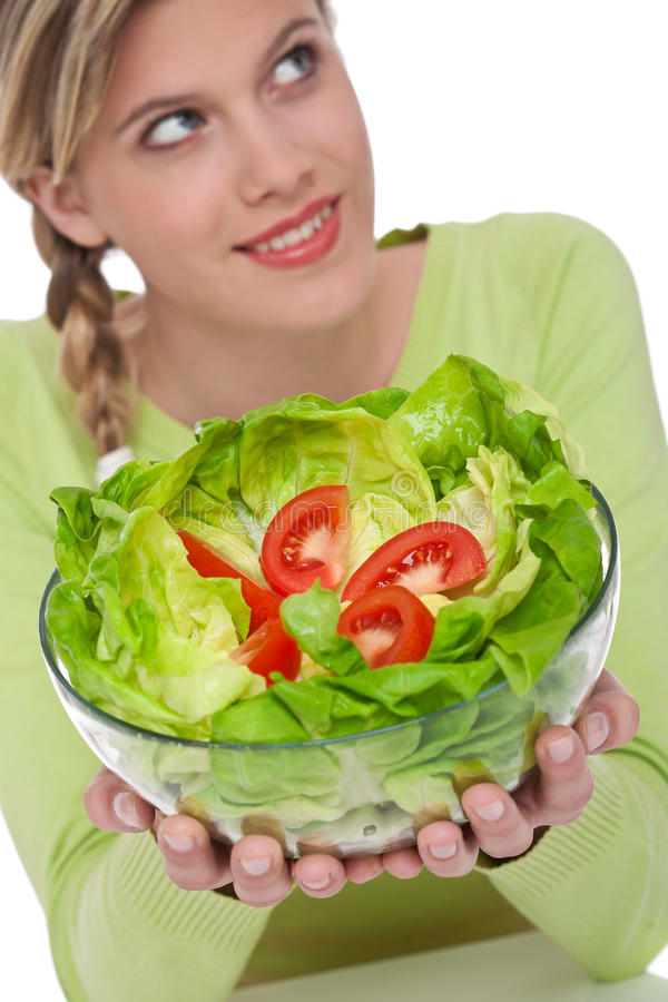 Download Healthy Lifestyle Series - Woman With Lettuce Stock Image - Image: 9828793
