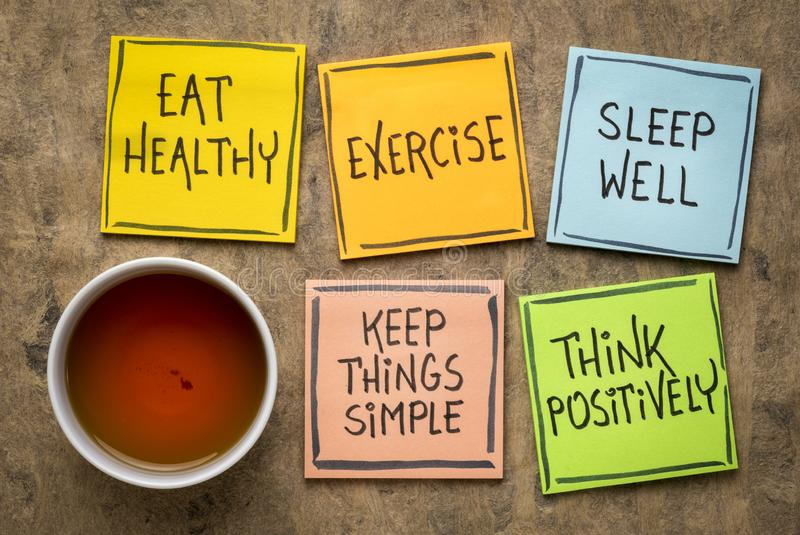 Healthy lifestyle and wellbeing concept royalty free stock images