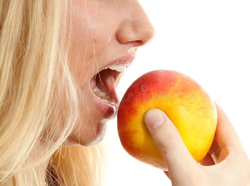 Download Healthy Lifestyle, Woman Eating Apple Stock Image - Image: 16959469