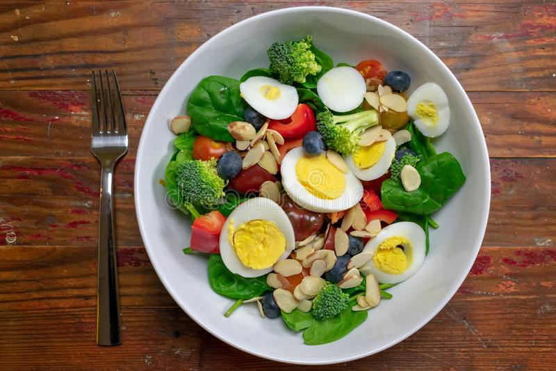 Healthy light lunch salad stock images