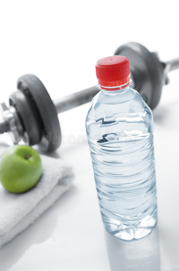 Healthy living. Water is the main element of healthy living stock photo