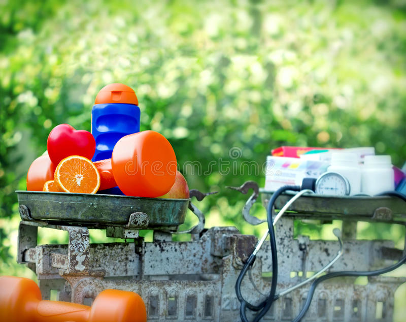 Healthy living. The concept of healthy living royalty free stock images