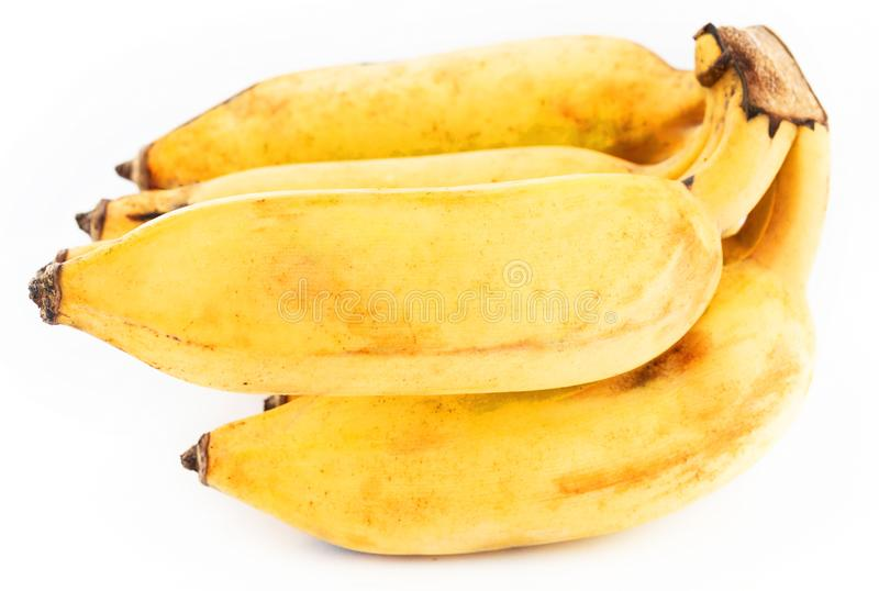 Healthy living concept: Closeup of a bundle of bananas in natural light stock photography