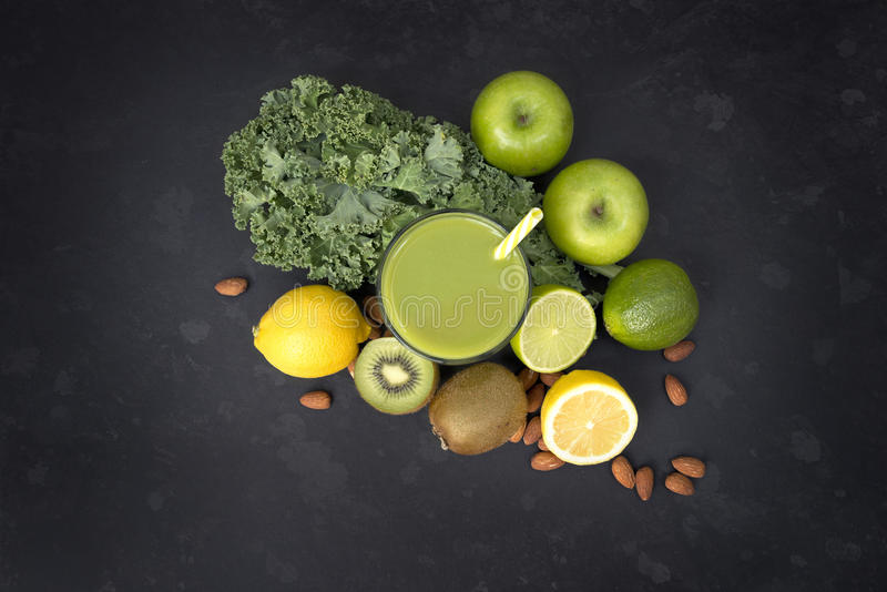 Healthy Living Green Smoothie stock images