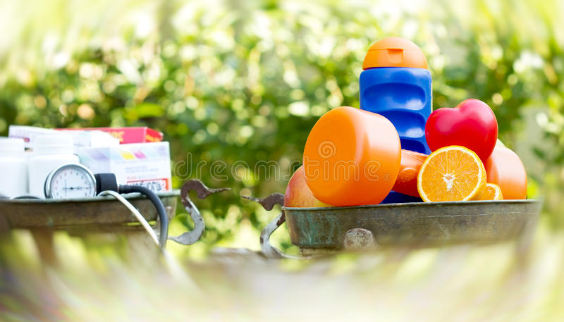 Healthy living with healthy food. Concept of healthy life stock images