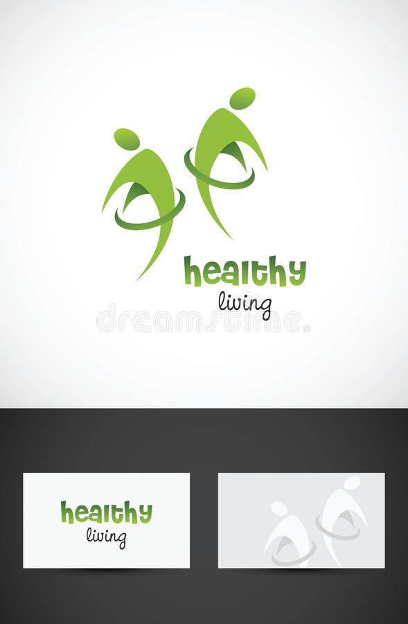 Healthy living icon stock images