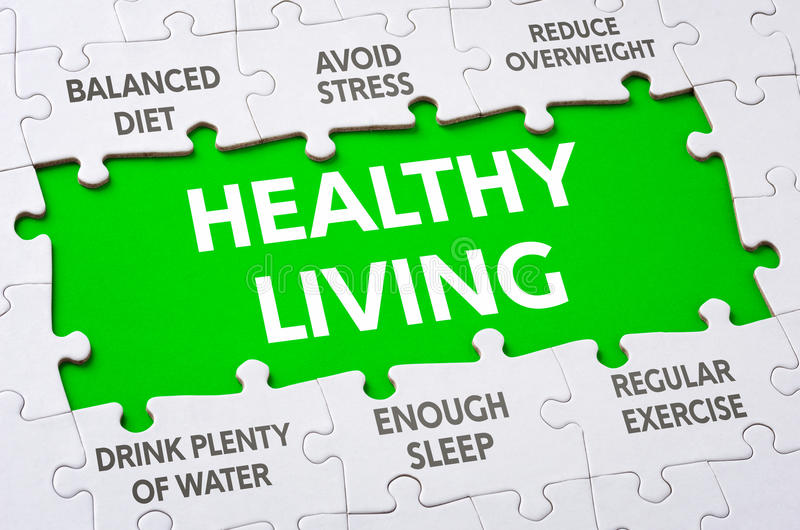 Healthy living stock image