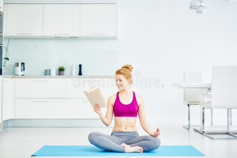 Healthy Living with Yoga royalty free stock image