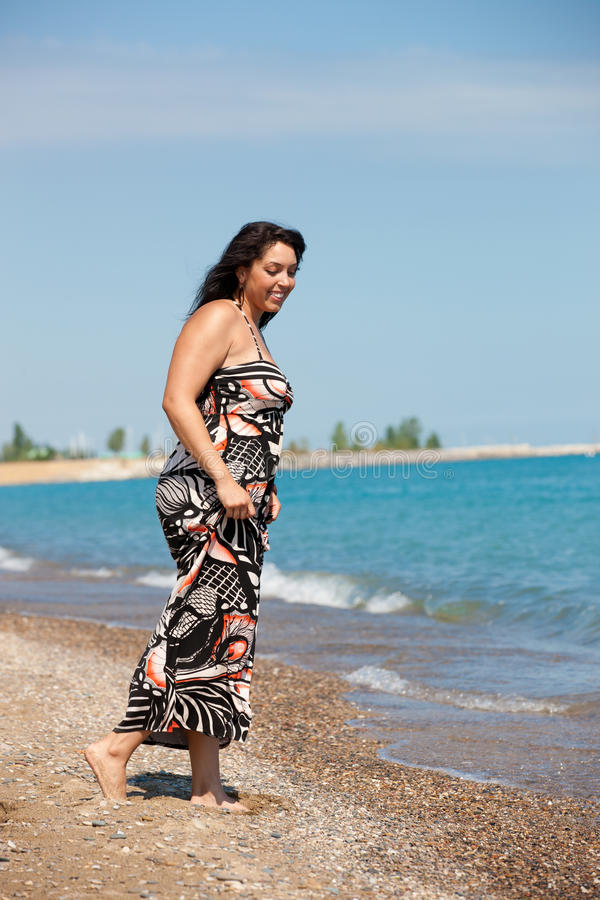 Download Healthy Looking Plus Size Model Walking Stock Image - Image: 21396415