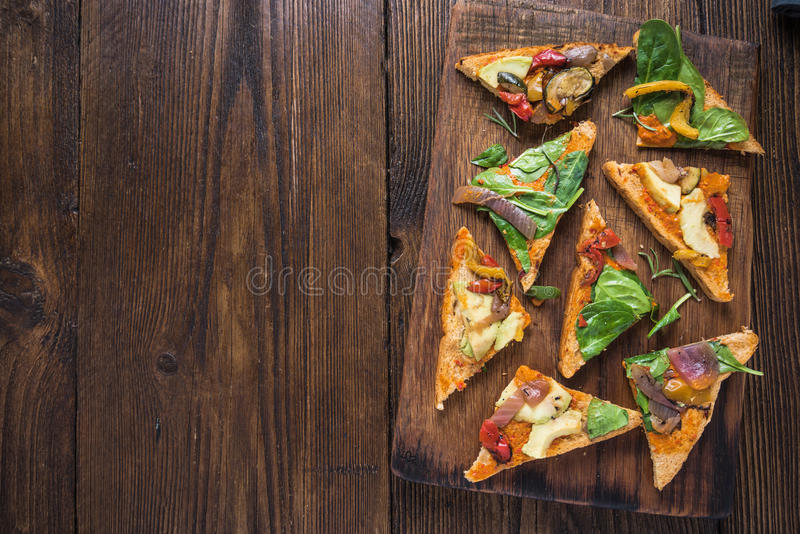 Healthy lunch, roasted vegetables sandwich royalty free stock images