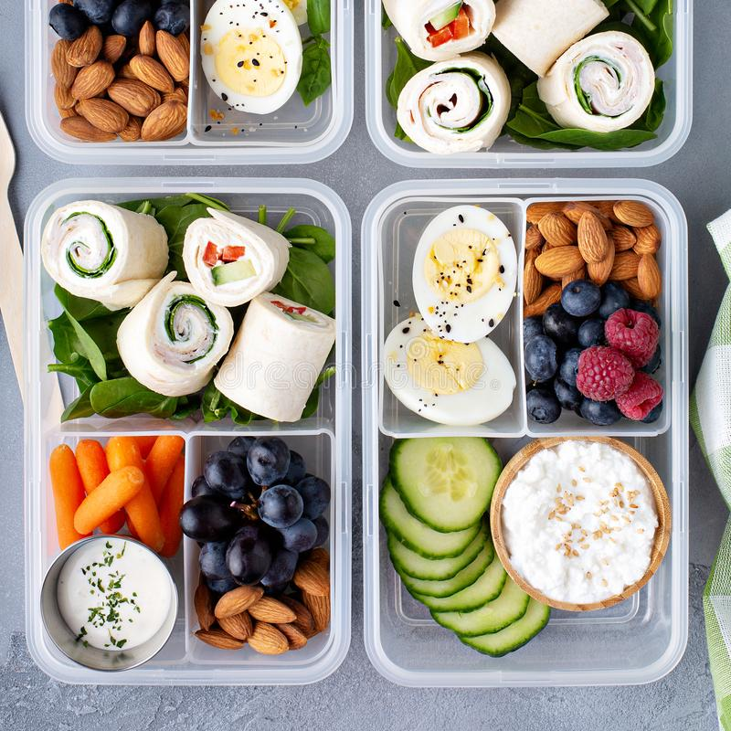 Healthy lunch or snack to go royalty free stock photos