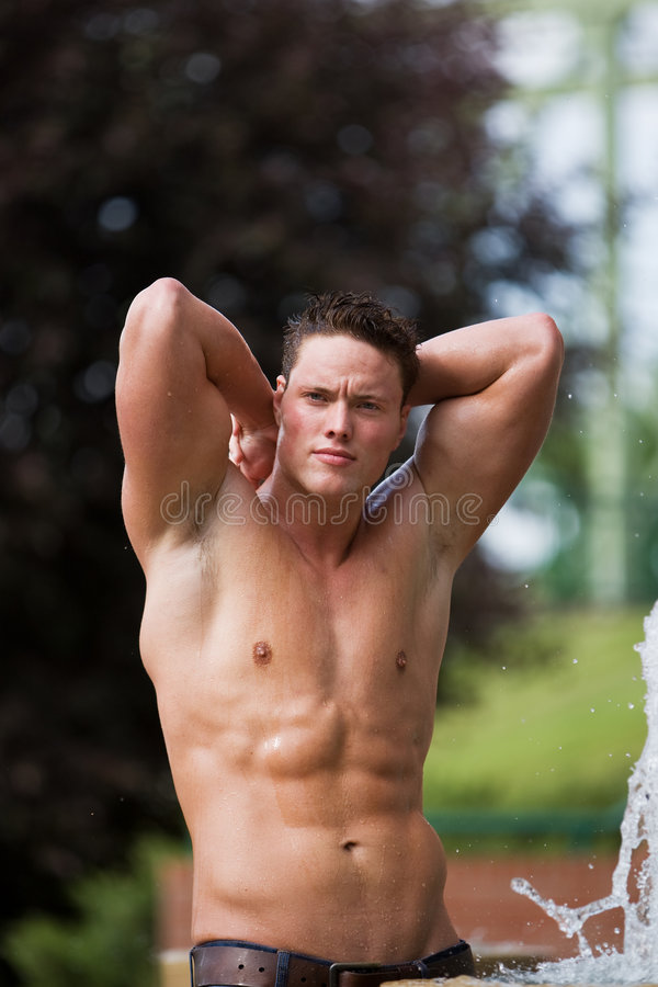 Healthy male stock photos