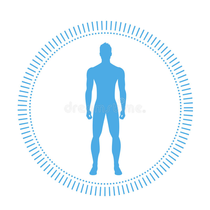 Free Healthy Man Body Logo Silhouette Icon Stock Images - 77156964