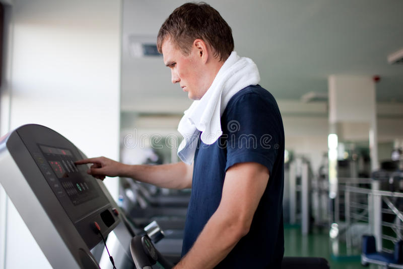 Download Healthy man a treadmill stock image. Image of treadmill - 17873509