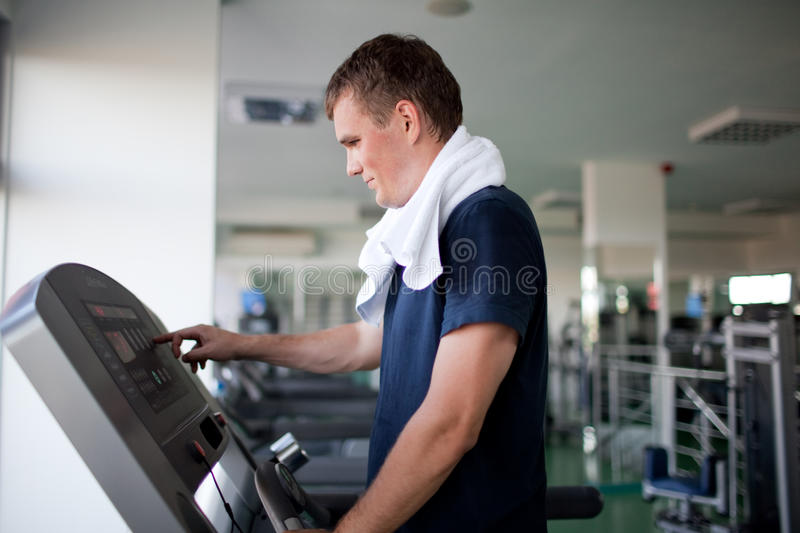 Download Healthy man a treadmill stock photo. Image of male, running - 17873532