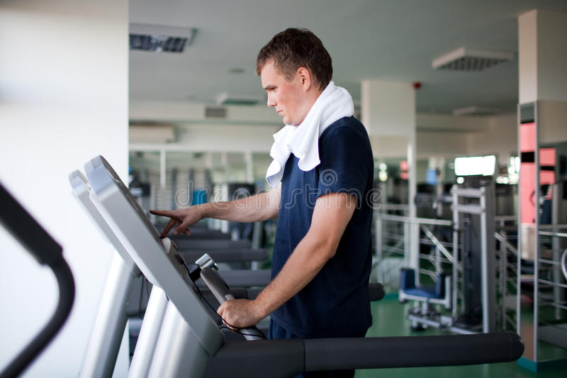 Download Healthy man a treadmill stock image. Image of handsome - 17873561