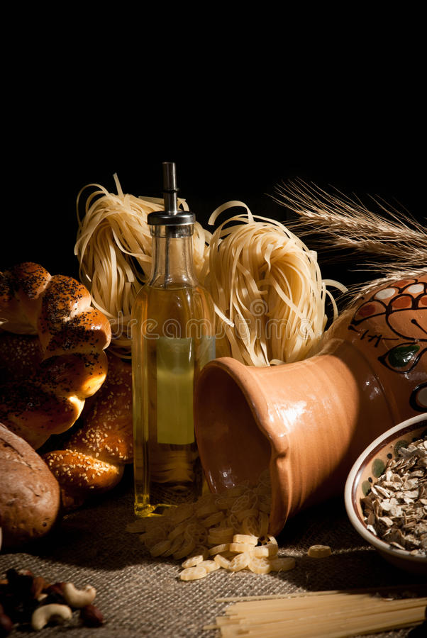 Download Healthy  Meal With Bread , Cereals Stock Image - Image: 28595223