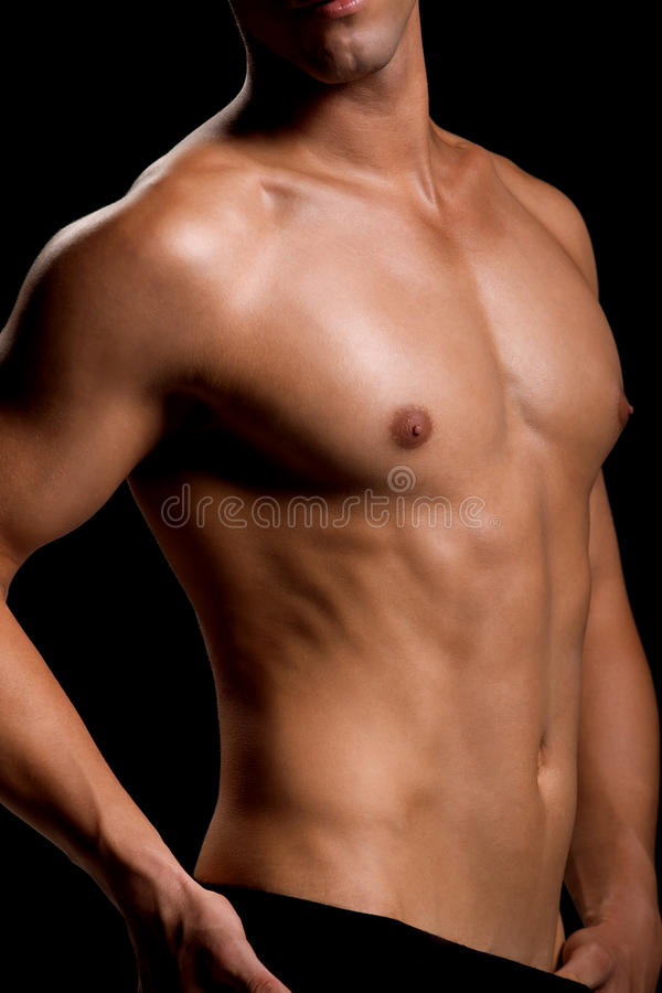 Healthy Muscular Young Man Royalty Free Stock Photo