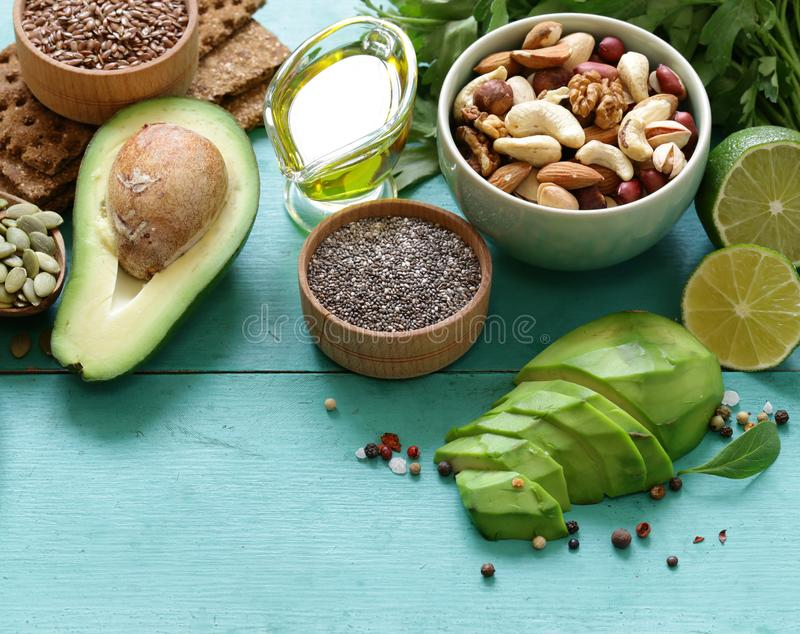Healthy and nutrition food stock images