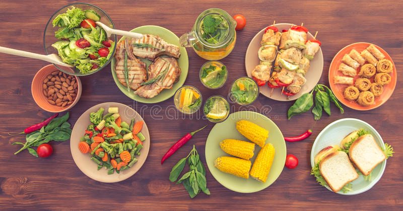 Healthy nutritious food stock photo