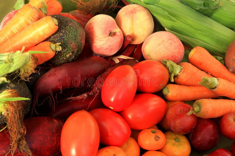 Healthy and nutritious fruit and vegetable. Collection of healthy and nutritious fruit and vegetables royalty free stock image