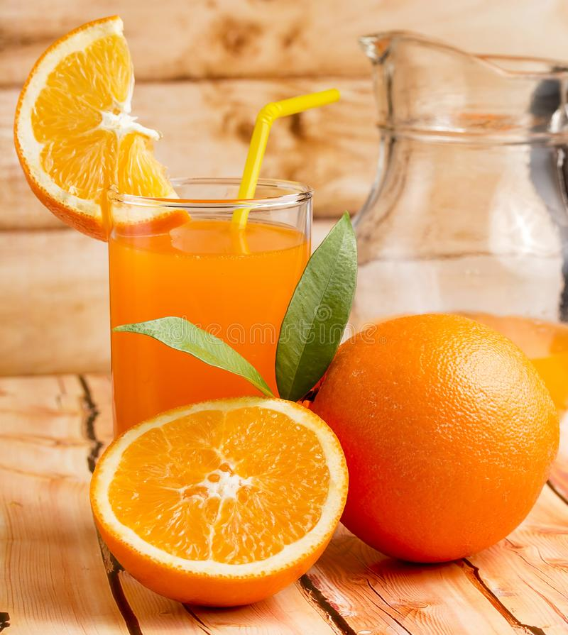 Healthy Orange Juice Represents Tropical Fruit And Beverages royalty free stock image