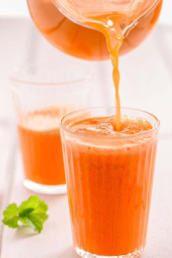 Healthy orange juice stock images