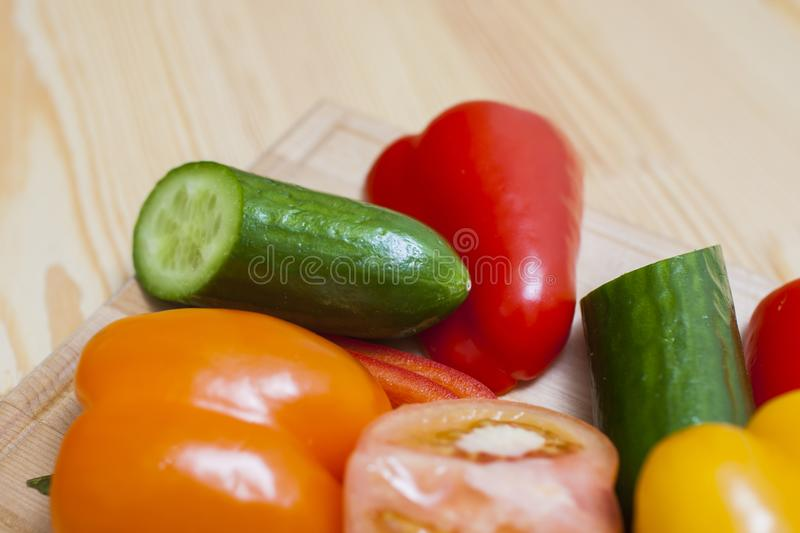 Healthy and Organic Food Concepts. Variety of Fresh Vegetables royalty free stock photos