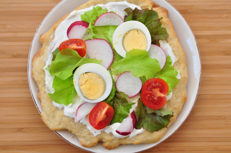 Healthy Pizza royalty free stock images