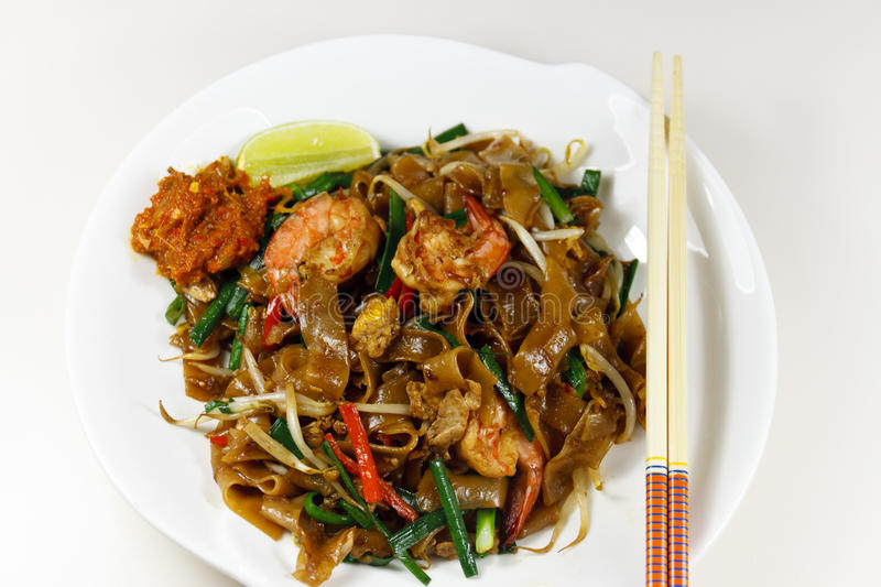 Healthy prawn noodle stock photography