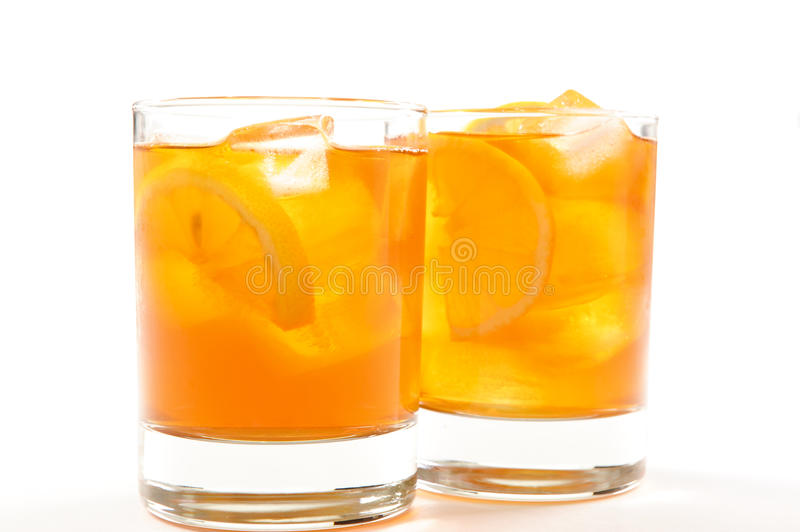 Healthy red bush iced tea stock image