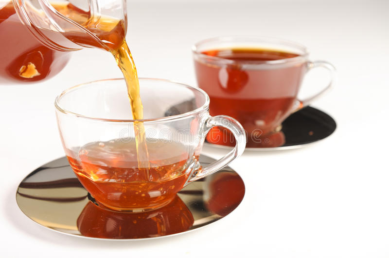 Healthy red bush tea from South Africa stock photography