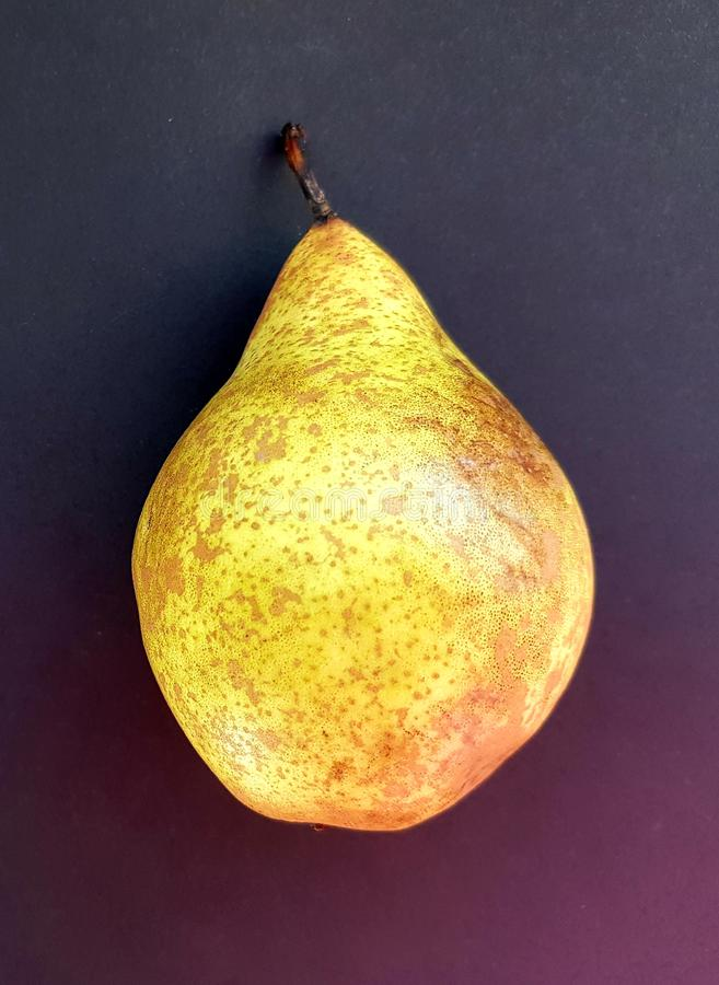 Closeup of yellow pear, organic food. Fresh, soft and delicious. Healthy fruits. stock images