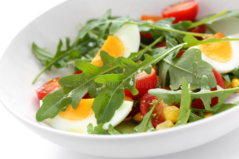 Healthy rocket salad stock image