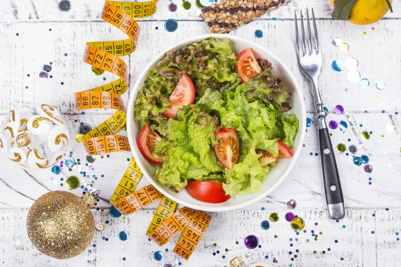 Before or after holidays diet stock photography