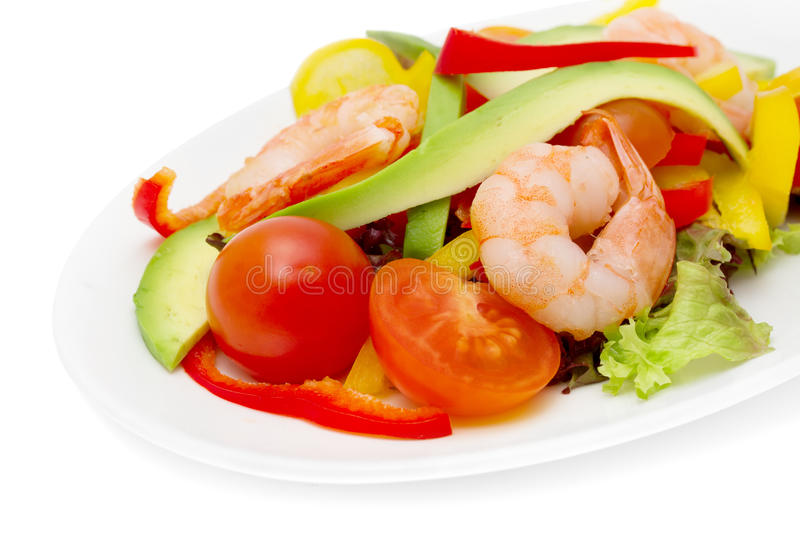 Download Healthy salad of shrimp stock photo. Image of appetite - 23438562