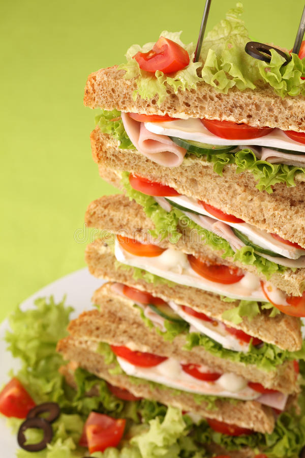 Download Healthy sandwiches stock image. Image of diet, healthy - 14373505