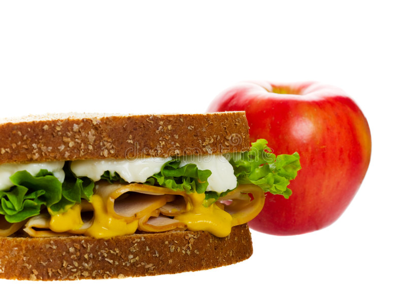 Healthy School Lunch stock photography