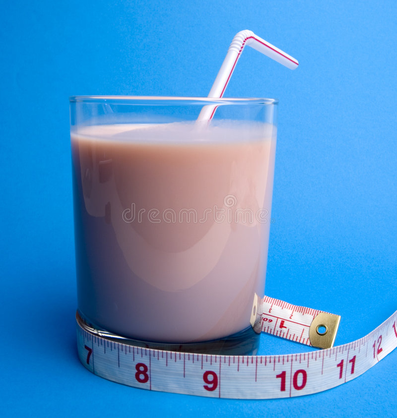 Download Healthy Shake (on blue) stock photo. Image of isolated - 418038