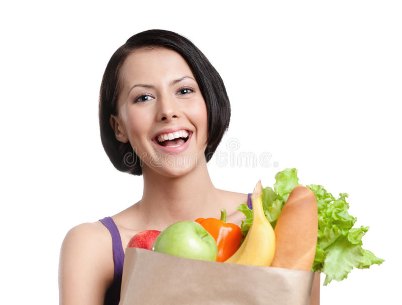 Download Healthy shopping stock image. Image of background, front - 26181991