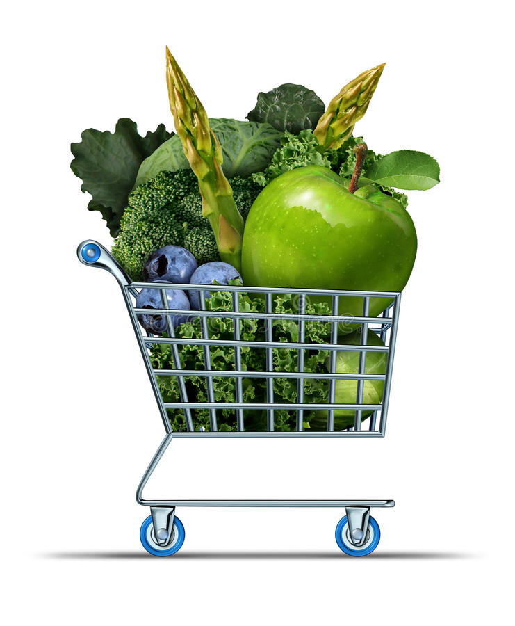 Download Healthy Shopping stock illustration. Illustration of buying - 47509783